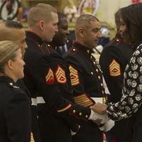 First Lady helps 2nd CAG Marines with Toys for Tots