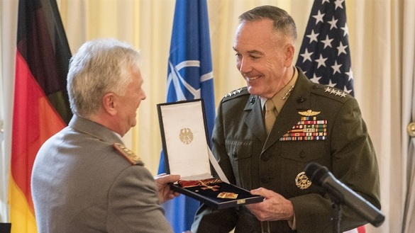 Dunford Receives Award From Germany, Stresses Importance of Alliances