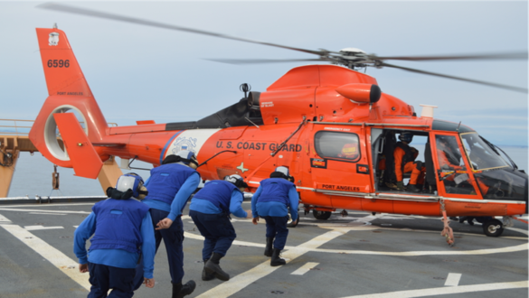 Coast Guard partners with Air Force to protect eyes from lasers