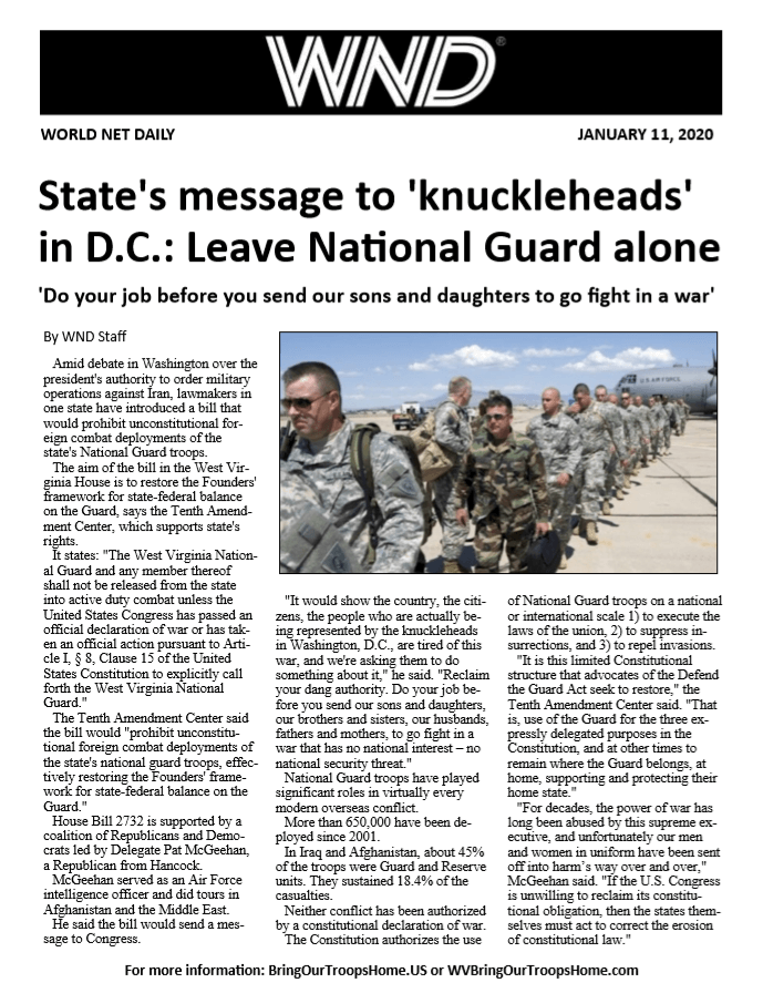 State's message to 'knuckleheads' in D.C.: Leave National Guard alone