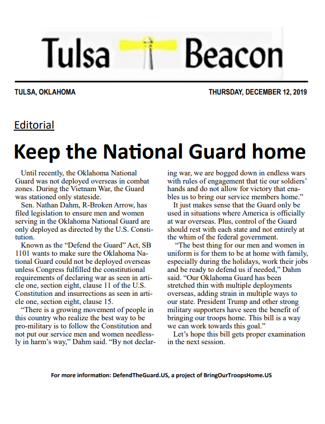 Keep the National Guard home