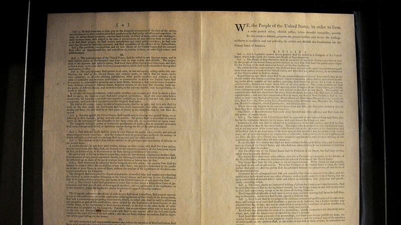 National Archives Slaps 'Harmful Content' Warning On Constitution, All Other Founding Documents