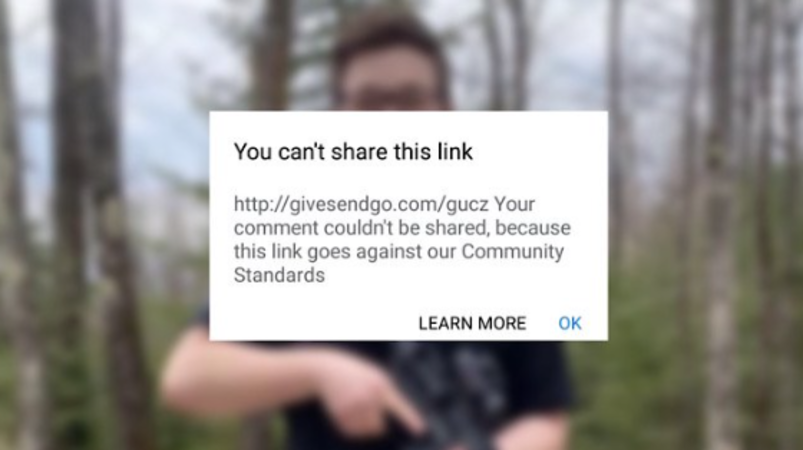 Facebook blocks links to fundraising campaigns for Kyle Rittenhouse legal defense