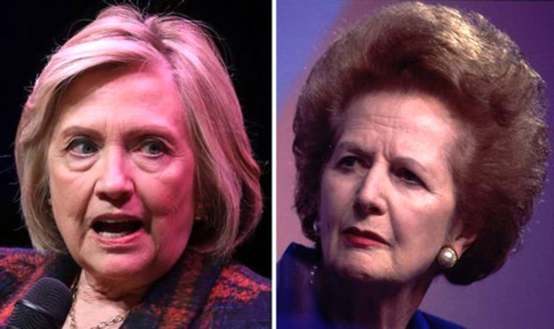 Clinton vs Thatcher: A tale of two women