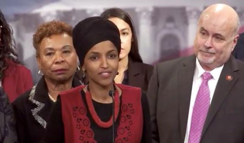 Omar laughed during talk of war dead at press conference