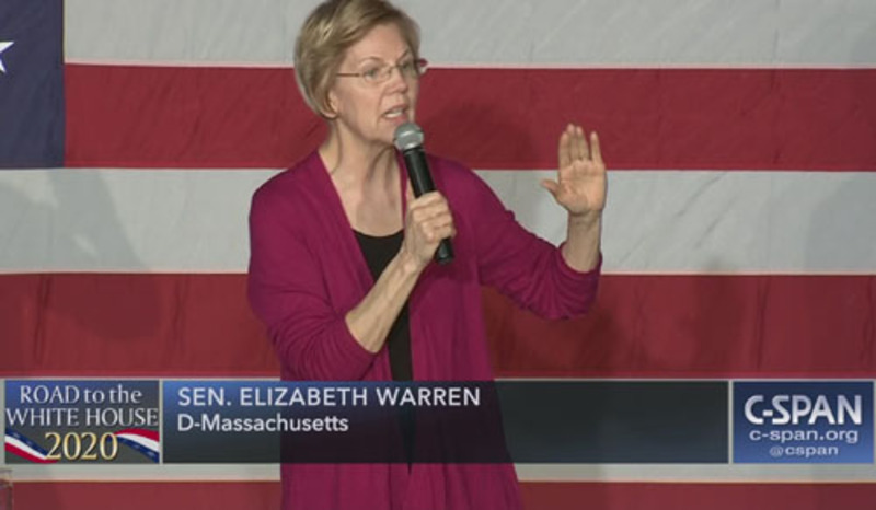 Warren laps the field: Green New Deal doesn't 'go far enough'