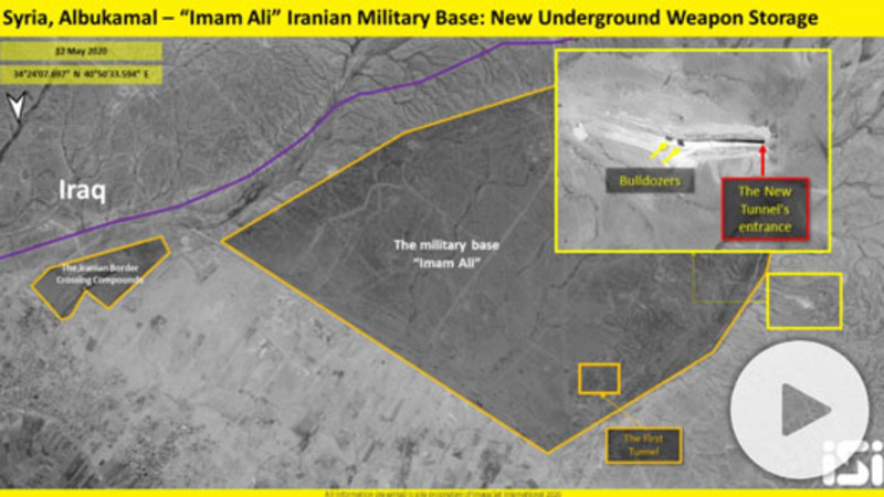 Report: Satellite photos show Iran tunnel at Syrian base
