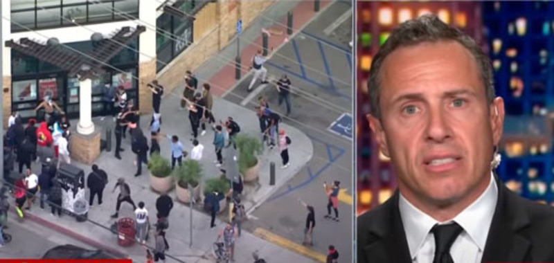 CNN's Cuomo hails 'protests', appears to incite further violence