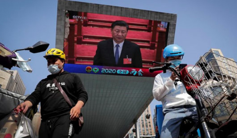 China touts 'new world order'; Video shows diplomats at riots