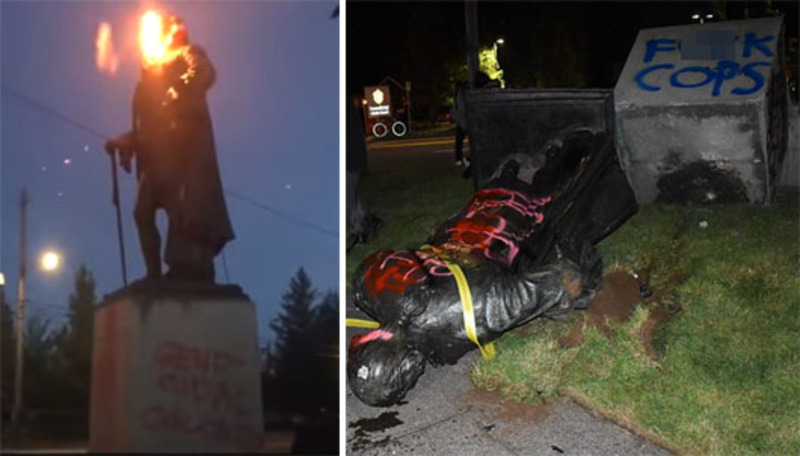 'Unhinged'? 'American Taliban'  taking down statues nationwide