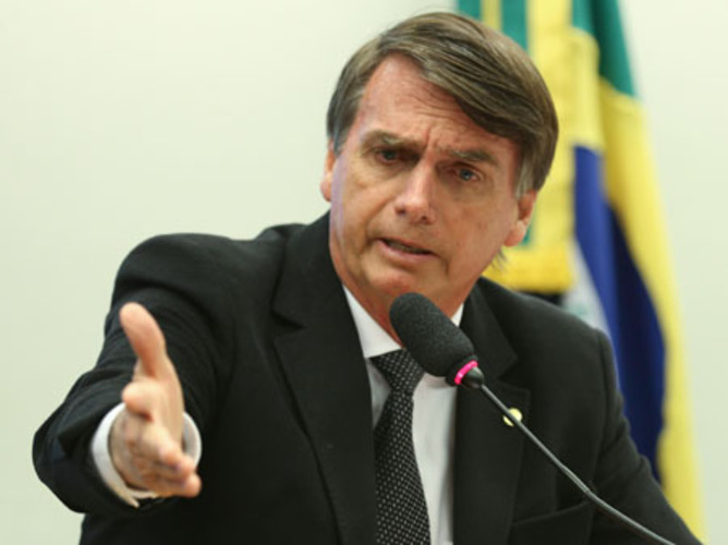 Brazil's Bolsonaro calls out Biden for debate threat