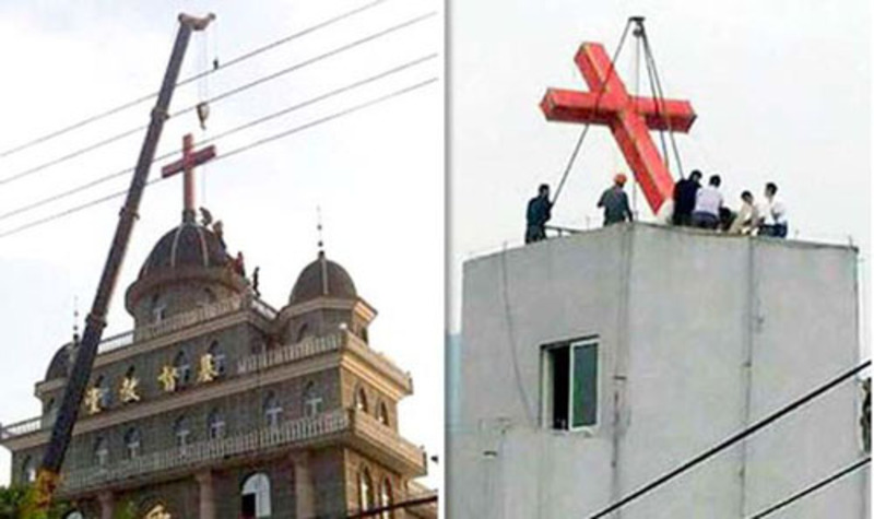 CCP forces China's churches to remove crosses