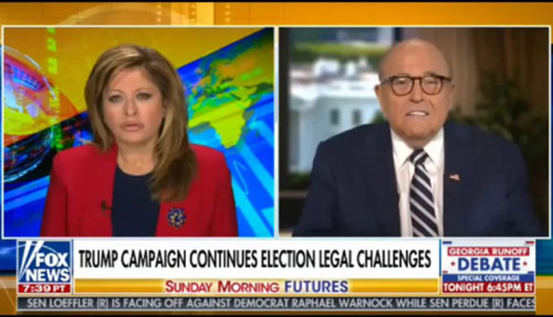 Giuliani: Fraud coordinated by 'somebody' in D.C.
