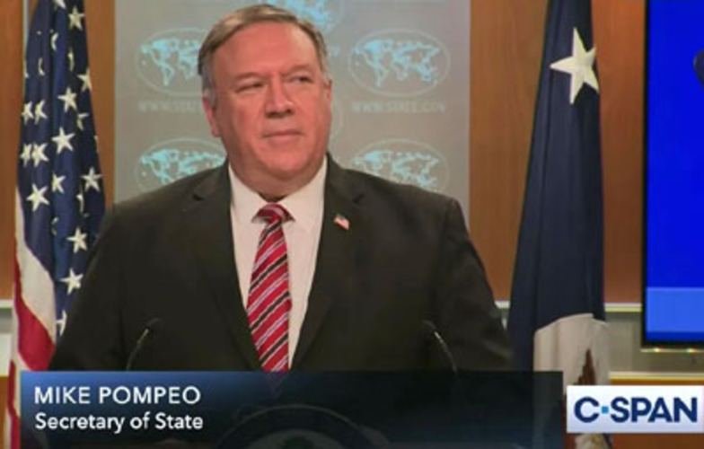 Secretary of State Mike Pompeo goes out with a bang