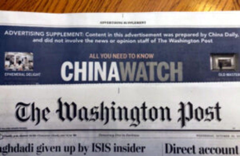 U.S. media outlets still being subsidized by China
