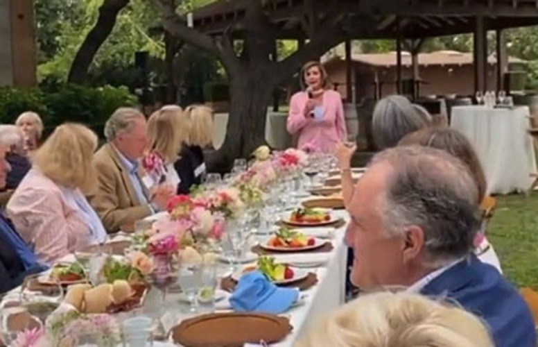 Only diversity was wait staff at Pelosi shindig