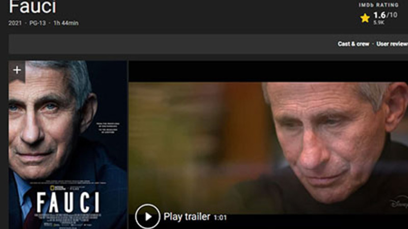 Fauci flop: Documentary gets 1.6 stars out of 10