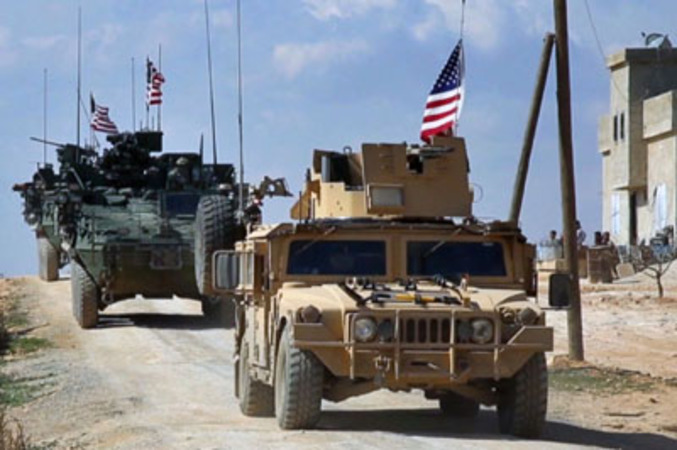 U.S. troop convoy enters Syria from Iraq