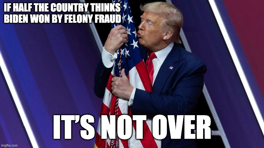 If Half the Country Thinks Biden Won by Felony Fraud ... It's Not Over
