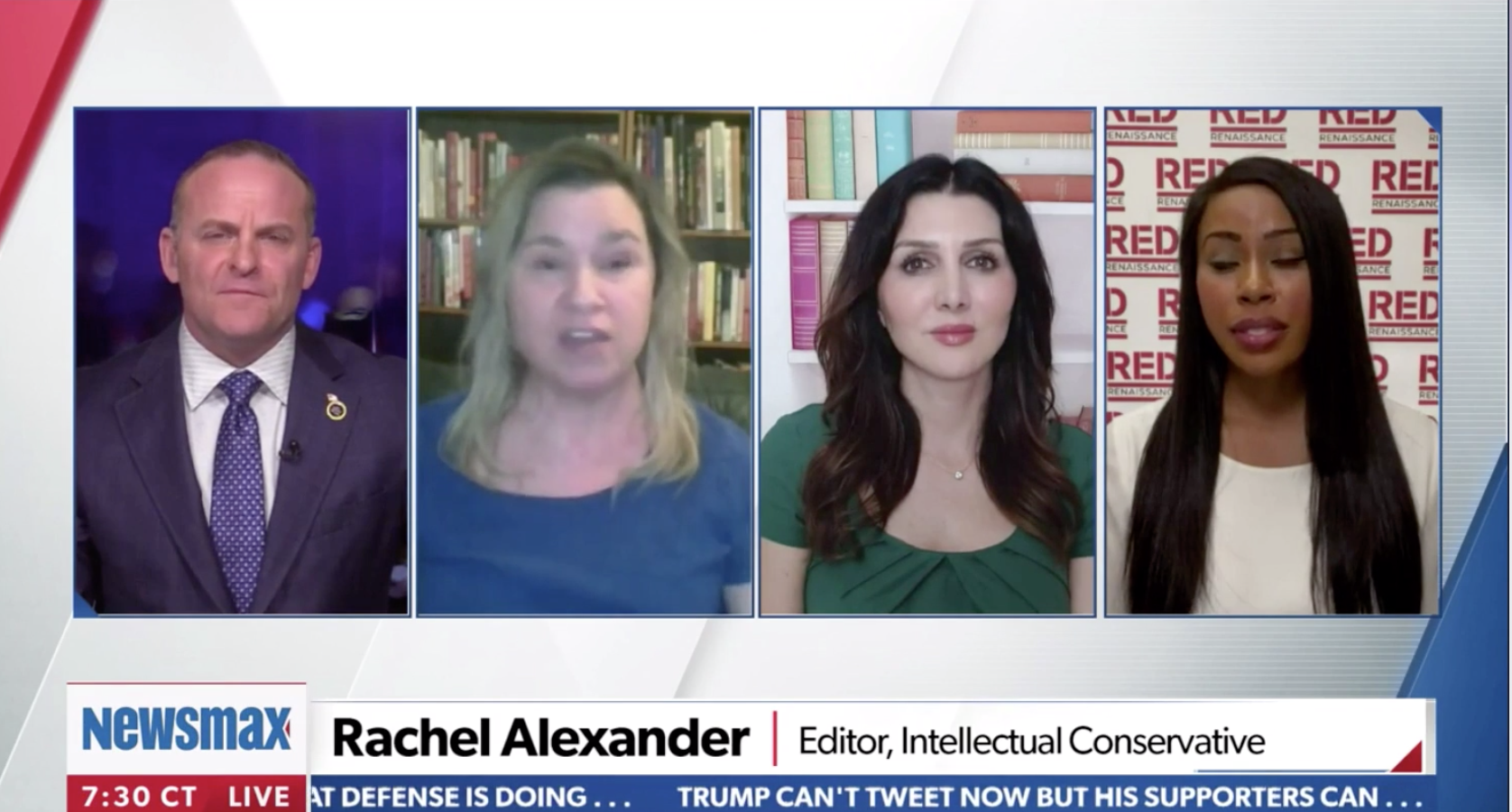 IC Editor Rachel Alexander on Newsmax talking about how the right needs to start thinking in terms of chess moves