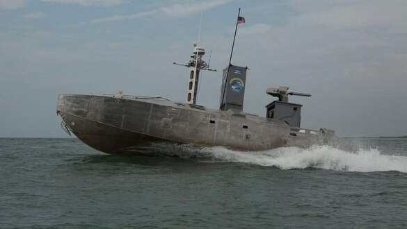 An unmanned ship that can travel 500 nautical miles without resupply ― the Corps is looking at it