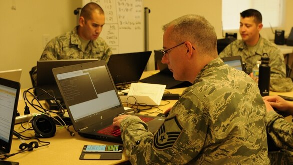 The Air Force has 15 areas in cyber where it wants help
