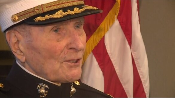 Valentines wanted: 104-year-old Iwo Jima Marine veteran wants one thing this Valentine's Day