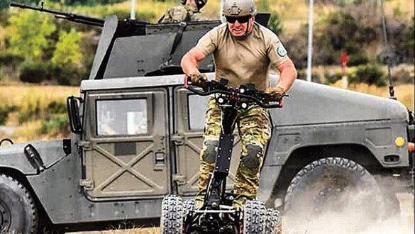 Soldiers now testing robot snakes, electric combat scooters and thermal-masking blankets