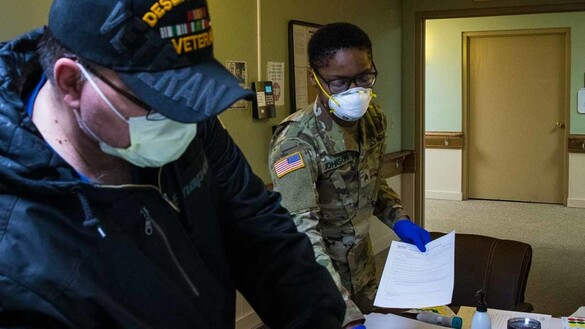 Michigan National Guardsmen Caring for the Caregivers