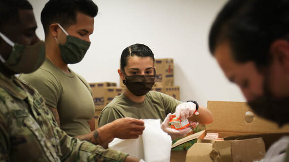 North Carolina Guard Distributes Food to Community
