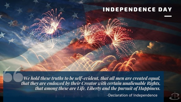 Wishing you a happy, safe and prosperous Independence Day!
