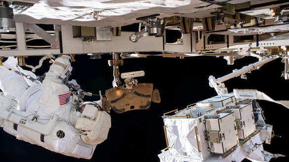 NASA Broadcasts Final Spacewalks to Upgrade Space Station Power System