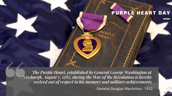 An estimated 1.8 million Purple Hearts have been awarded. Thank you, service members, for your sacrifices and courage.