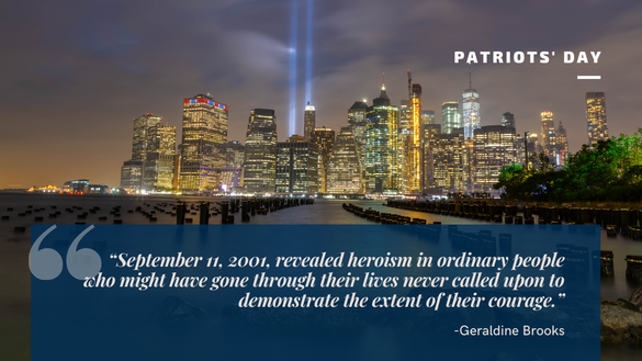 19 years ago, horrific attacks shook our nation, but we did not break. May we Never Forget