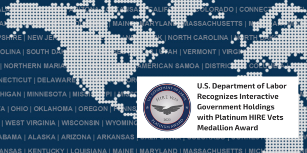 Release: U.S. Department of Labor Recognizes Interactive Government Holdings with Platinum HIRE Vets Medallion Award