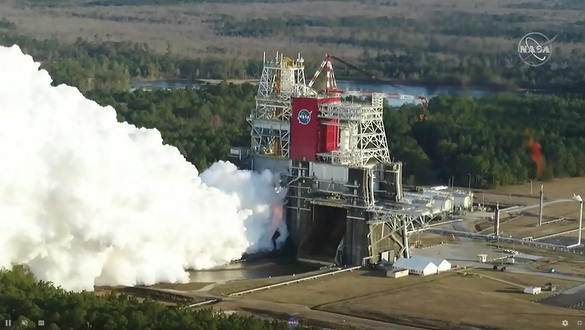 NASA Conducts Test of SLS Rocket Core Stage for Artemis I Moon Mission
