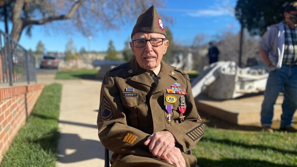 A 99-year-old World War II veteran finally gets his medals