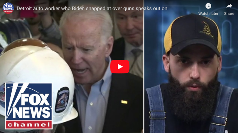 Worker who confronted Joe Biden about gun control: He 'went off the deep end'