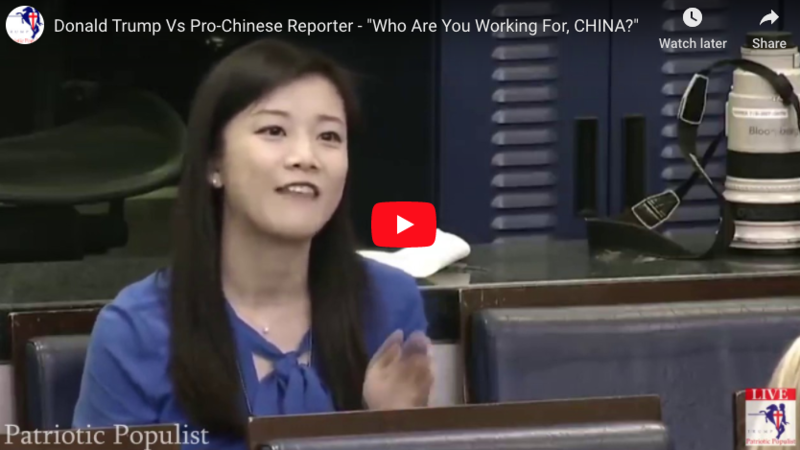 FACT CHECK: Trump Asked a Reporter If She Was Working For China… She Is.