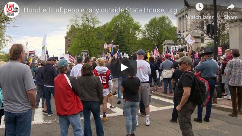 """We're Tired of Your Lies!"" – Protesters Gather Outside of Massachusetts State House Demanding Governor Reopen State (VIDEOS)"