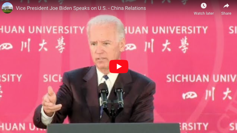 EXC: Biden China Speech 'Welcomed And Encouraged' Chinese Investment In U.S., Top Driver Of IP Theft And Job Loss