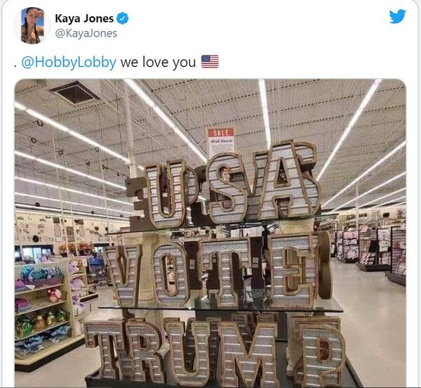 Mass outrage erupts at Hobby Lobby after blatant pro-Trump message appears on a store display