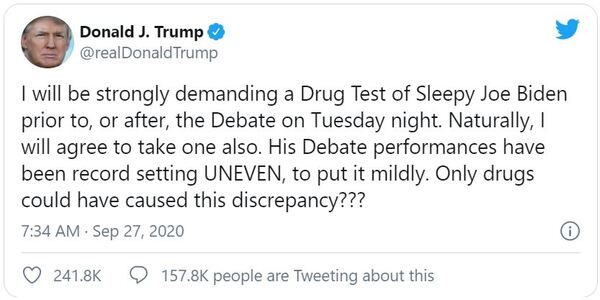 Biden camp claims Trump 'thinks his best case is made in urine' following call for pre-debate drug tests