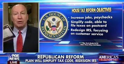 Cong. Kevin Brady: Donald Trump wants to fix this broken tax code… Were going to be ready.&