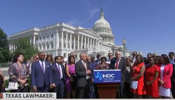 Texas Democrats fly to D.C., break (bad) into song on Capitol Hill