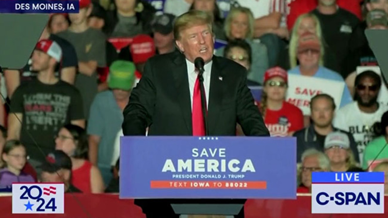 Trump in Iowa on the seven takeovers: 'Make America Great Again, Again'
