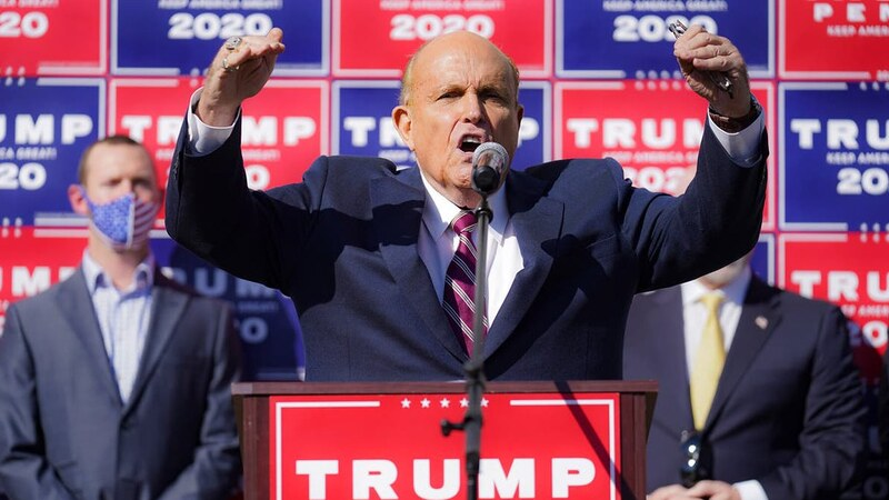 Twitter accounts for Rudy Giuliani, Sidney Powell, and Lin Wood were 'search banned' today